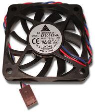 10 Qty. Delta EFB0612MA 60mm x 10mm 12v Ball Bearing Fans w 3 Pin Tach Connector