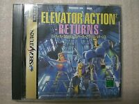 Elevator Action 2 Returns (Sega Saturn, 1997) Rare Game From Japan Used