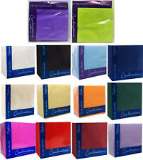 PAPER NAPKINS PACK 100 TABLEWARE PARTY  SOFT SERVIETTES-SEE EXTRA NEW COLOURS