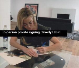 DENISE RICHARDS S007 JAMES BOND PRIVATE SIGNING & PSA SIGNED AUTOGRAPH TWINE