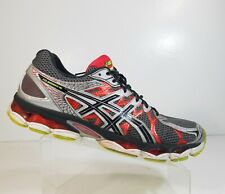 Asics T435N Gel Nimbus 16 Men Sport Athletic Gray Red Running Shoes Size 14