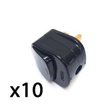 Enchufe TOP CON INTERRUPTOR ON / Apagado 13a Amp CONMUTADA Neón light negro x 10