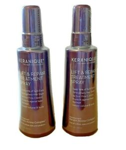 Keranique Lift and Repair Treatment Spray for Thicker Fuller Hair Pack Of 2 New