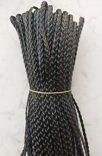 10mt cordino cuoio piatto larghezza 5mm colore nero per bracciale,collana
