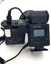 Quantum Qflash Trio Qf8C With Light Modifiers & Turbo Sc Battery.