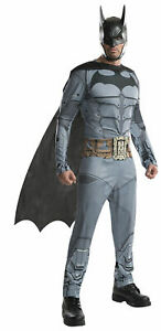 DC Batman Fancy Dress Costume Arkham Costume Party Outfit Novelty Fun