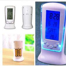 Digital Backlight LED Display Table Alarm Clock nooze Calendar Desk Snooze ACME