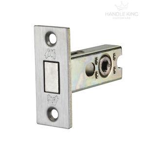 Bathroom Lock - Bolt Through Deadbolt - Satin Chrome Finish - 63mm and 76mm