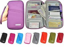 Wristlet Waterproof Travel Document Ticket Coin Wallet Passport Card Pen Holder