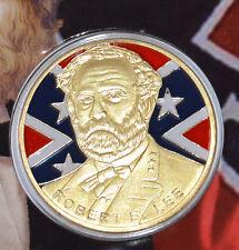 Civil War Gold  Coloured Confederate General Robert E. Lee Collectors Coin NEW