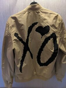 THE WEEKND XO H&M BOMBER JACKET- BEIGE SIZE SMALL BRAND NEW WITH TAGS