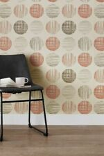 Next Paste The Paper 2x Wallpaper Retro Etched Circles Discontinued Sealed - New