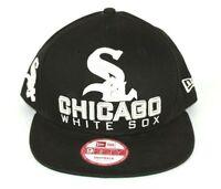 New Era MLB 9Fifty CHICAGO WHITE SOX Black Snapback Cap Hat S/M