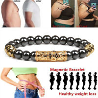 Magnetic Healthcare Hematite Stone Bead Bracelet Bangle  Slimming Sp