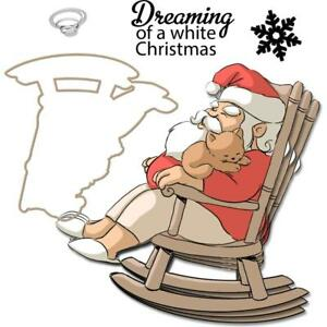 New ART IMPRESSIONS RUBBER STAMP DIE mini shaker DREAMING CHRISTMAS ACRYLIC C