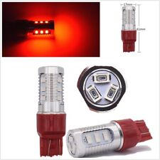 2 x T20 7443 Red LED Flashing Strobe Car Rear Alert Safety Brake Stop Light Bulb