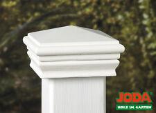 Pfostenkappe Abdeckplatte Holz weiß grund. für 90x90 mm Pfosten