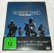 New Rogue One: A Star Wars Story 3D+2D Blu-ray Steelbook Germany Region Free