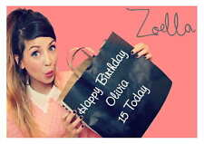 LARGE A5 GLOSSY PERSONALISED ZOELLA BIRTHDAY CARD