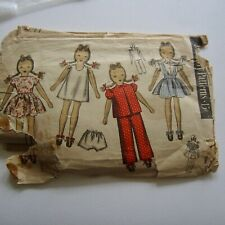 Vintage Du Barry 5972 Rag Doll & Clothes Toy Sewing Pattern Complete 1940s 1930s