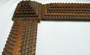 "Antique Fits 16"" x 20"" Tramp Art 6 Stack Folk Art Country Primitive Carved Wood"