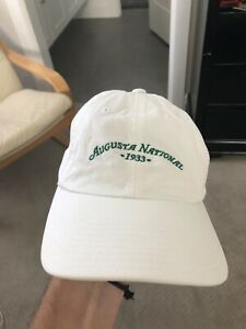 Rare Augusta National Golf Club Members Hat by American Needle White in Color