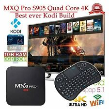 MXQ Pro 4K Smart TV BOX Android 5.1 Marshmallow Quad Core preload with keyboard