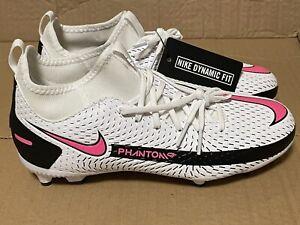 Kids Nike Phantom GT Elite FG Soccer Cleats White Pink Blast Size 5
