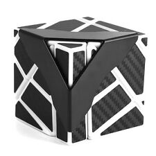New Cube Irregular Skewb Cube Twist Puzzle Smooth Carbon Fiber Sticker Black Toy