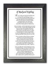 Rudyard Kipling If Clásico Poema You ' Ll Ser Un Hombre Inspiración Grande