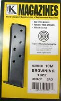 Browning Model 1922 .380 ACP 8 Round RD Blued Steel Magazine/Mag Triple K 10M