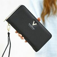 Ladies Leather Purse Female Wallets Women Long Clamps Card Holder Clutch Handbag