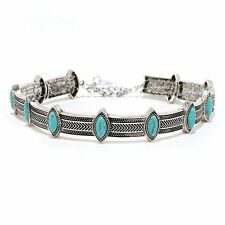 Ethnic Style Turquoise Collar Choker Statement Bohemian Retro Necklace Jewelry