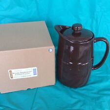 Chocolate Brown Coffee Ice Tea Lemonade Carafe 48 oz Hot Or Cold Longaberger New