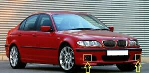 BMW 3 Series E46 Coupe Cabrio 00-05 M-Sport Bumper Fog Light Covers SET Genuine