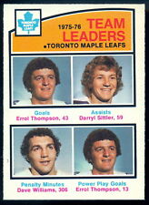 1976 77 OPC O PEE CHEE #394 DARRYL SITTLER DAVE WILLIAMS NM LEADERS MAPLE LEAFS