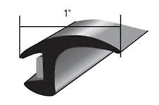 "Windshield Auto Glass Channel Molding Universal Flexible Trim Rubber 60"" length"