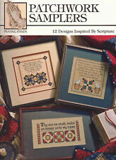 Patchwork Quilt Samplers w Bible Scripture Quotes Cross Stitch Pattern Book NEW