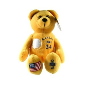 Kansas State Quarter Bear Collectible Stuffed Bear Yellow Mustard Embroidered