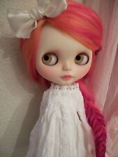 HTF Designer Dakawaiidolls Gorgeous WHITE Linen BLYTHE Doll Dress MINT Condition