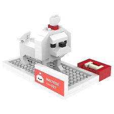 Maltese - ANSBRICK BLOCK PET.1. Building, Learning - Nanoblock compatible