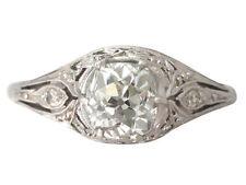 Platinum Solitaire Not Enhanced Fine Rings