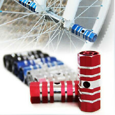 HK- 1 Pair Aluminum Alloy Pegs Cycling Bicycle Rear Stunt Foot Peg Six Axle Posh