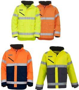 Yoko Hi Viz Vis Fontaine Storm Jacket HVP309 6 Sizes 4 Colours PPE Work Wear