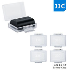 JJC 4pcs Water-resistant Battery Case for Canon Nikon Sony Fujifilm DSLR Camera