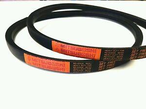 2 GenuinMitsuboshi   PTO Belts For Kubota G1700 / G1900 Replaces P/N 66101-25080