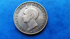 SACHSEN Meiningen 1 Gulden 1840 Bernhard Erich Freund (1821-1860)