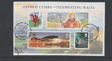 GB 2009 Celebrating Wales MINISHEET fine used set stamps on piece