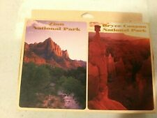 Lot of 2 decks National Parks Playing Cards-Zion & Bryee Canyon-NEW-Xmas Gift