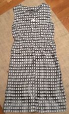 Vintage Hand Made Dress As Is Needs Zipper Black & White Gingham W/ Daisies